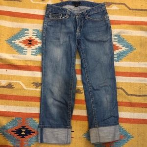 Banana Republic wide leg crop cuff jeans